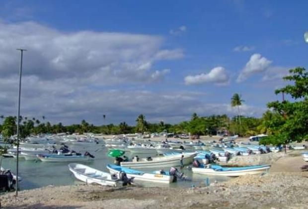 Hundreds of boats in the marina of Bayahibe