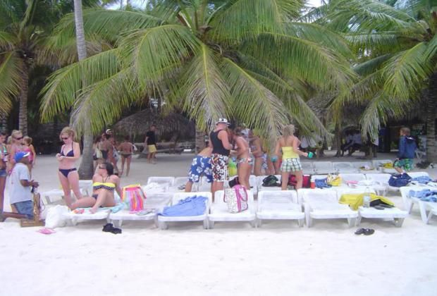 relaxing at abaniqua beach on our Saona Island excursion