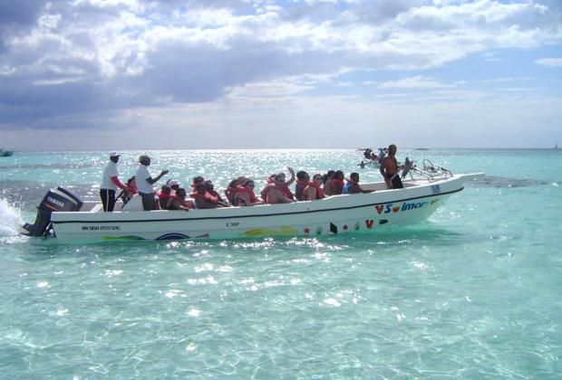 back to bayahibe per speedboat
