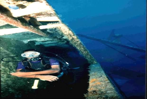 You can explore the wreck of the Saint George - for divers from Punta Cana and Bayahibe