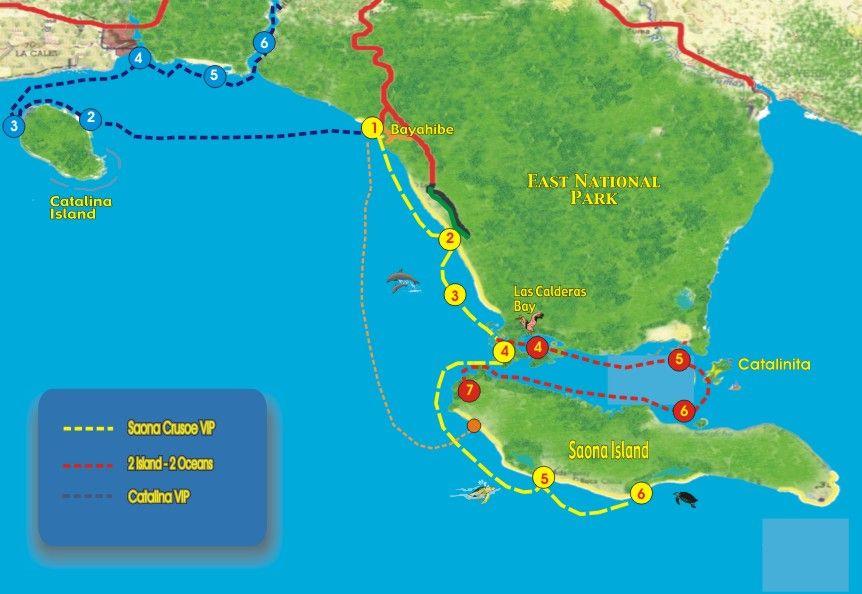 Map Excursions | SeavisTours | Punta Cana, Bayahibe, La Romana on