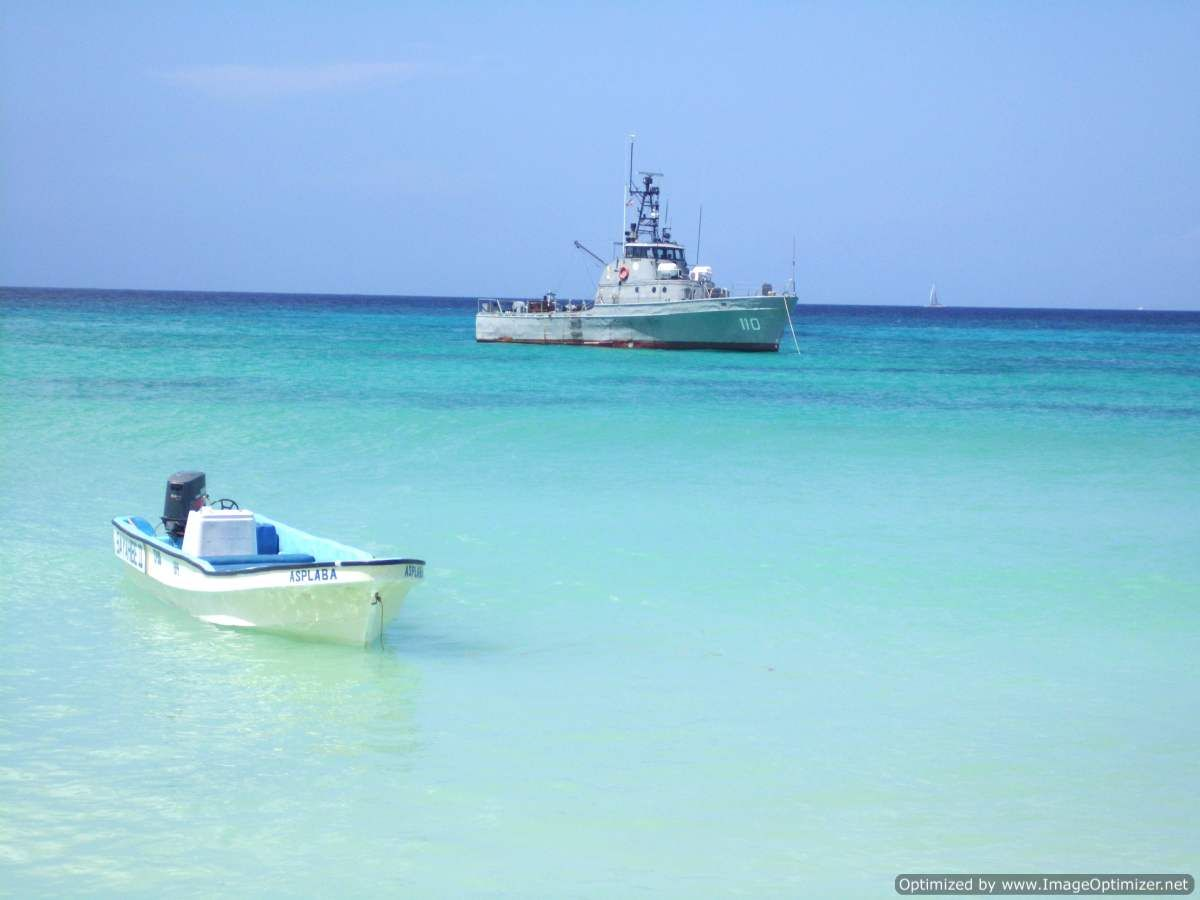 Naval Vessel in front of Catuano Beach