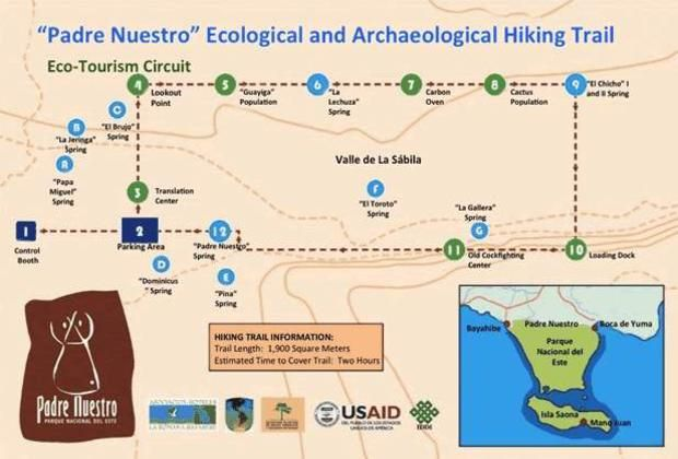 Padre Nuestro Trail Map